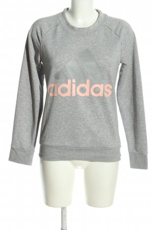 Adidas Sweatshirt hellgrau-nude meliert Casual-Look