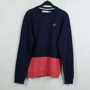 ADIDAS Sweatshirt Gr. S dunkelblau rosa oversize (19/11/062)