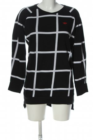 Adidas Sweat Shirt check pattern casual look
