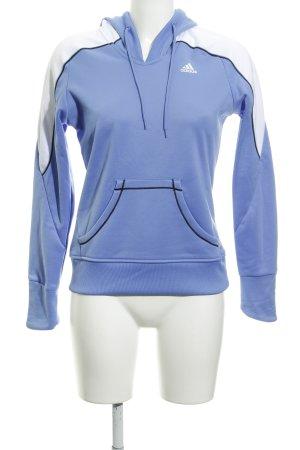 Adidas Sweatshirt kornblumenblau-weiß sportlicher Stil