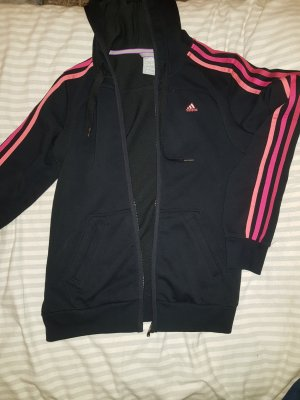 Adidas Sweat Jacket black-magenta