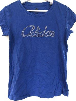 Adidas Koszulka sportowa niebieski-złoto