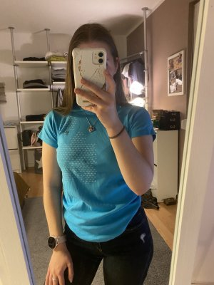 Adidas T-shirt azzurro-blu neon