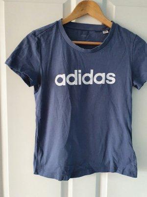 Adidas Maglietta sport azzurro Cotone