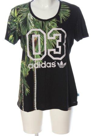 Adidas T-Shirt Schriftzug gedruckt Casual-Look