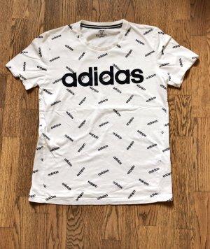 Adidas Top basic bianco-nero Cotone
