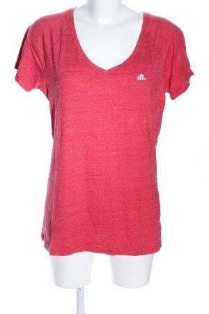 Adidas T-Shirt rot meliert Casual-Look
