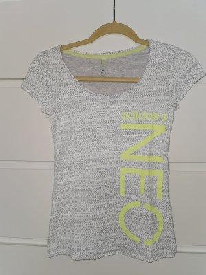 Adidas NEO T-shirt jasnoszary-żółty neonowy