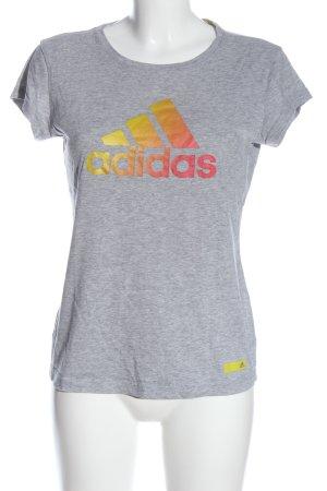 Adidas T-Shirt hellgrau meliert Casual-Look