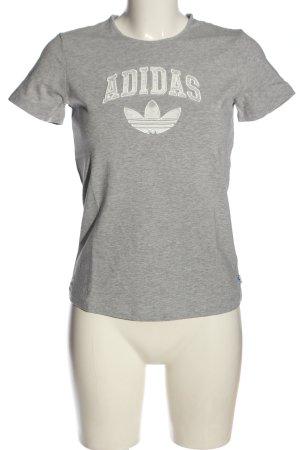 Adidas T-shirt grigio chiaro puntinato stile casual
