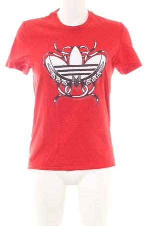 Adidas T-shirt prints met een thema casual uitstraling