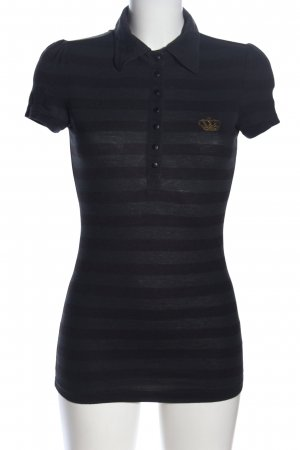 Adidas T-shirt zwart gestreept patroon casual uitstraling