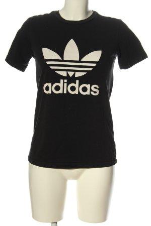 Adidas T-Shirt schwarz-wollweiß Casual-Look