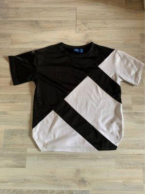 Adidas Camisa holgada blanco-negro