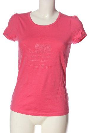 Adidas T-Shirt pink Schriftzug gedruckt Casual-Look