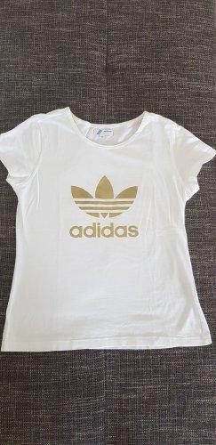 Adidas Originals T-shirt biały-złoto