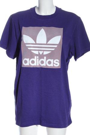 Adidas T-Shirt lila Motivdruck Casual-Look