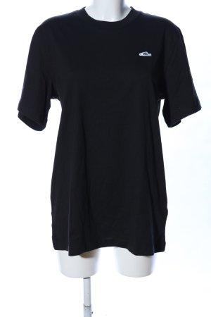 Adidas T-Shirt schwarz Schriftzug gestickt Casual-Look
