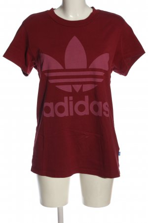 Adidas T-Shirt rot Motivdruck sportlicher Stil
