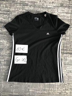 Adidas Sportshirt zwart-wit