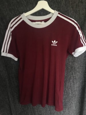 Adidas Originals T-shirt bordeaux-wit