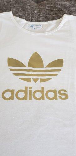 Adidas T-shirt biały-złoto