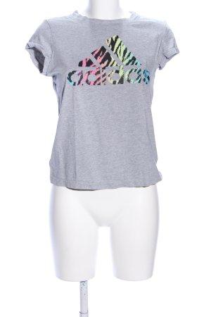 Adidas T-Shirt hellgrau meliert sportlicher Stil