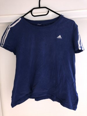 Adidas Top à col bateau bleu-blanc