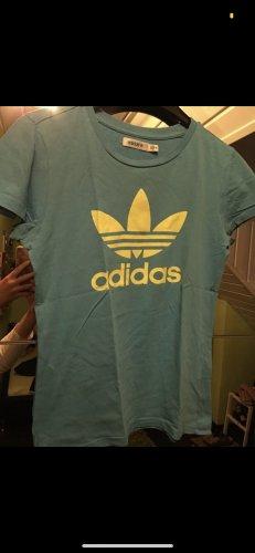 Adidas T-Shirt blau-gelb