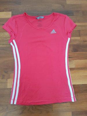 Adidas T-shirt czerwony neonowy