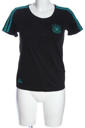 Adidas T-Shirt schwarz-türkis Casual-Look