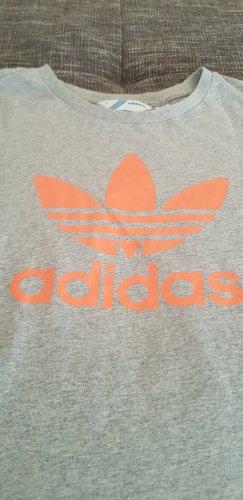 Adidas T-shirt jasnoszary-pomarańczowy neonowy