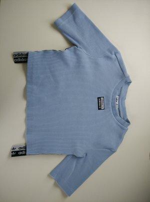 Adidas Cropped top azuur-lichtblauw Gemengd weefsel