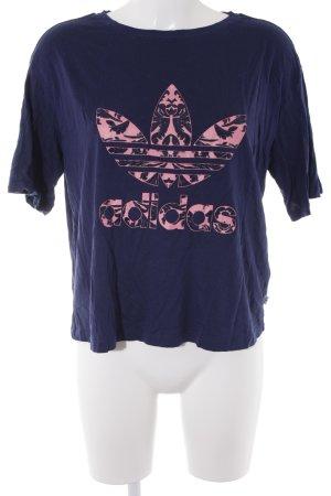 Adidas T-Shirt dunkelblau-pink sportlicher Stil