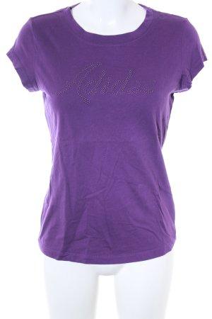 Adidas T-Shirt dunkelviolett Casual-Look