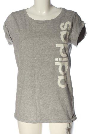 Adidas T-shirt gris clair-blanc cassé moucheté style décontracté
