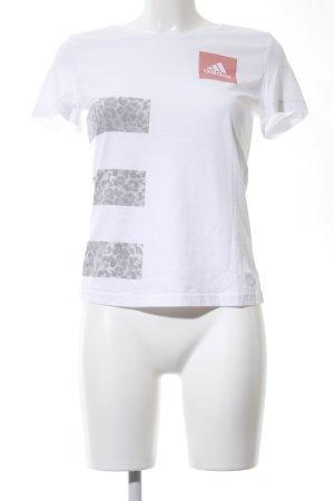 Adidas T-Shirt weiß-hellgrau Animalmuster Casual-Look