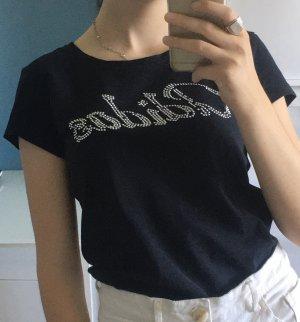 Adidas T-shirt glitzer Logo Straßsteine