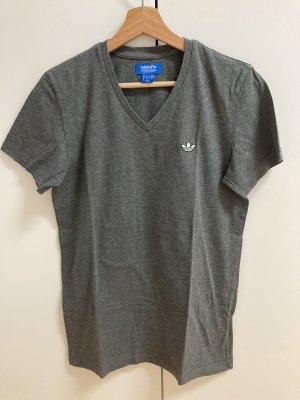 Adidas T-Shirt grey-dark grey cotton