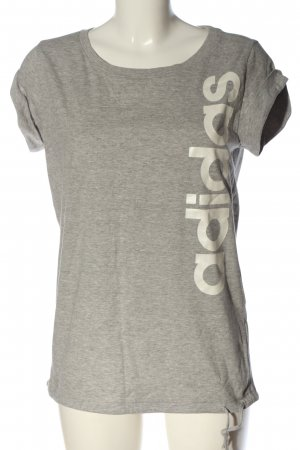 Adidas T-Shirt hellgrau-wollweiß meliert Casual-Look