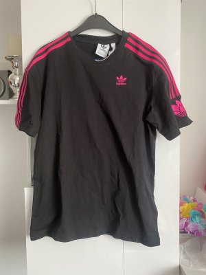 Adidas T-shirt zwart-magenta