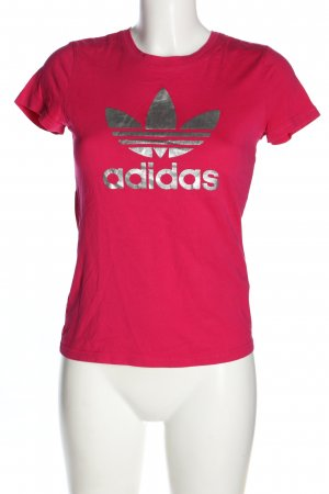 Adidas T-shirt rosa-argento Stampa a tema stile casual