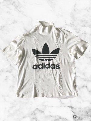 Adidas Top à col roulé blanc-noir