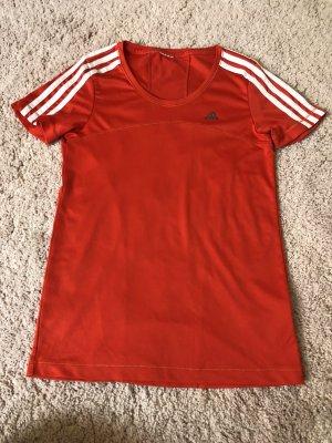 Adidas T-shirt de sport rouge-blanc