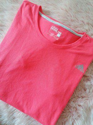 Adidas Sports Shirt bright red polyester