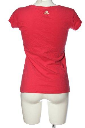 Adidas T-Shirt rot-goldfarben Motivdruck Casual-Look