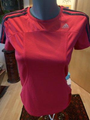 Adidas Maglietta sport rosso lampone-turchese