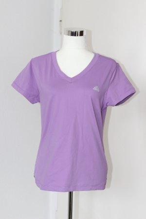 adidas T Shirt Tshirt Kurzarm Flieder Lila Gr 44 46