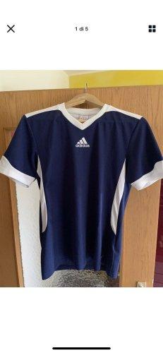 Adidas T-shirt wit-blauw
