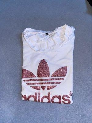 Adidas Maglietta sport bianco-rosa